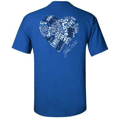 Cross Over Hoops Royal Blue T-Shirt B