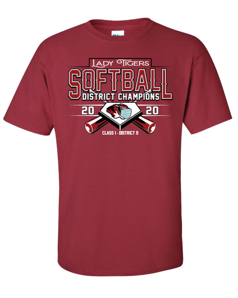 District Champs Softball Short Sleeve T-Shirts 2020