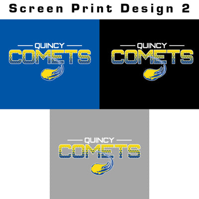 Quincy Comets Ladies Electrify V-Neck Tee