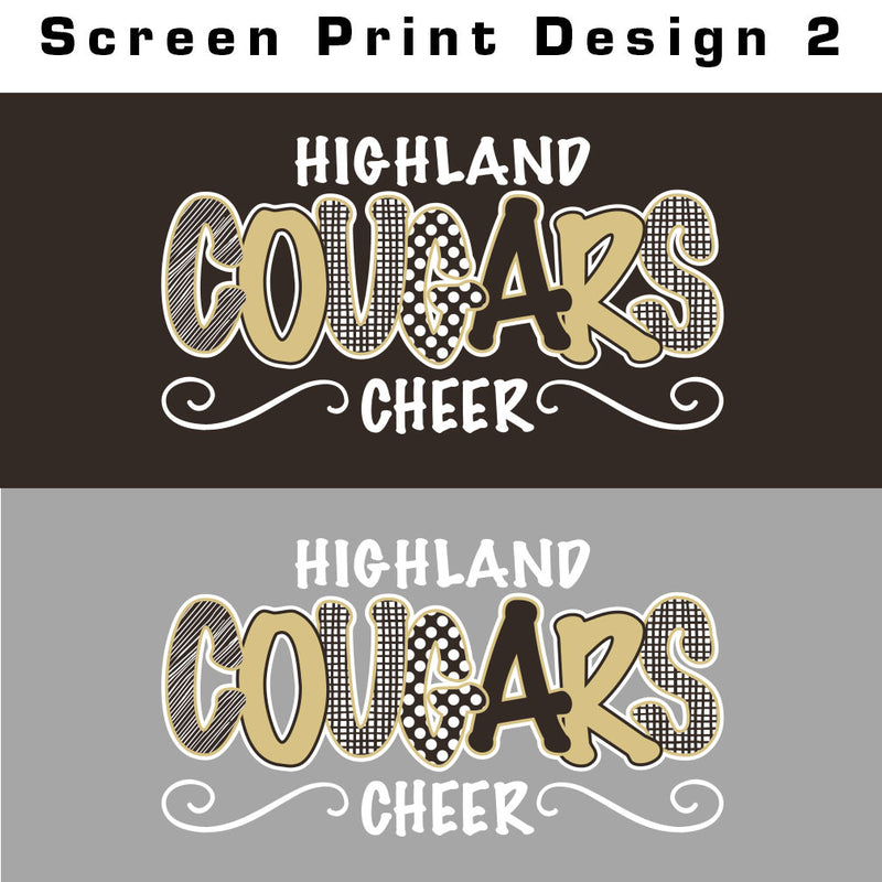 Highland Cheer Squad Baseball Tee
