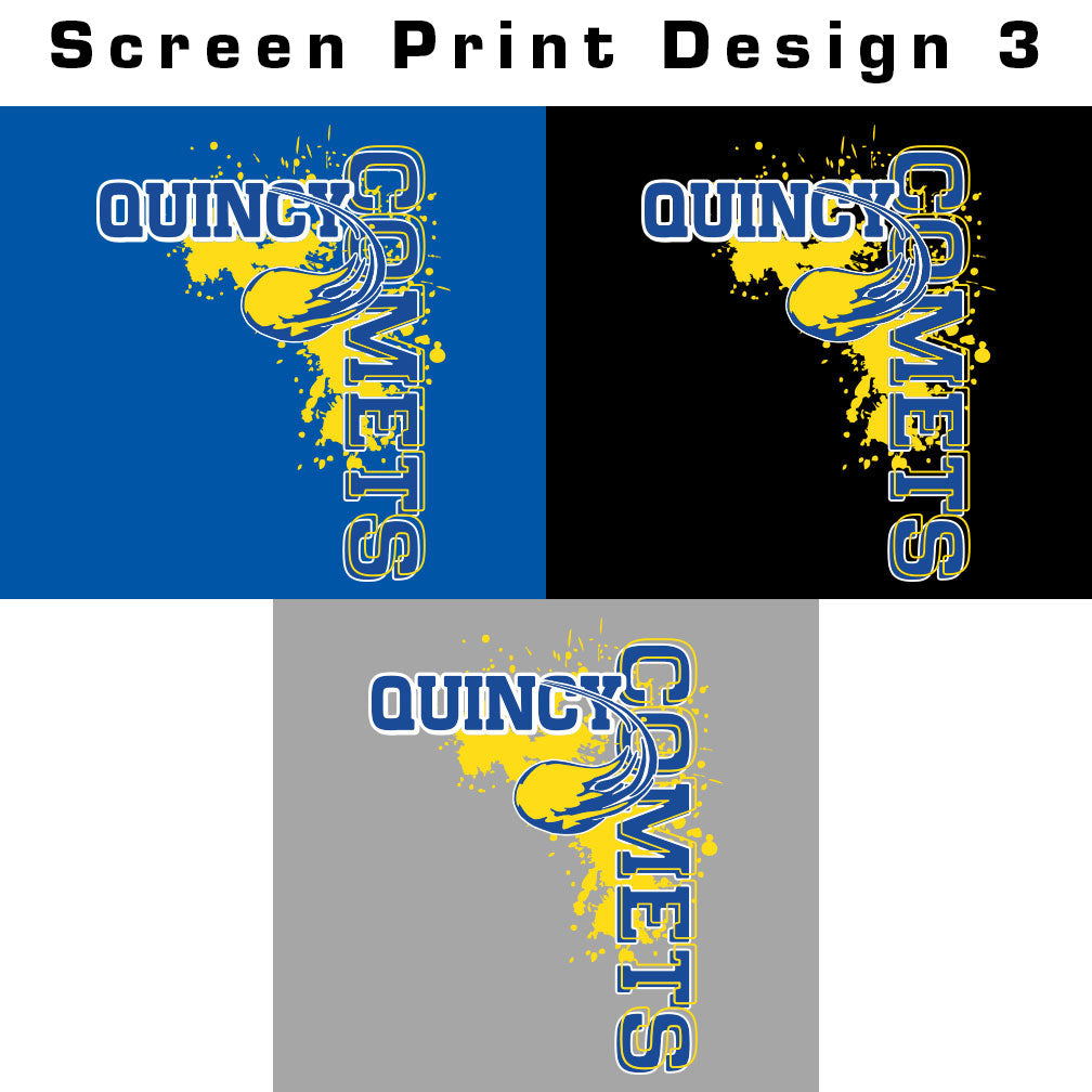 Quincy Comets Ladies Drifit Long Sleeve