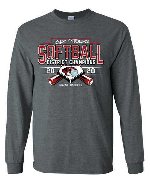 District Champs Softball Long Sleeve T-Shirts 2020