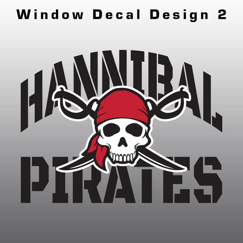 Hannibal Pirates Window Decal