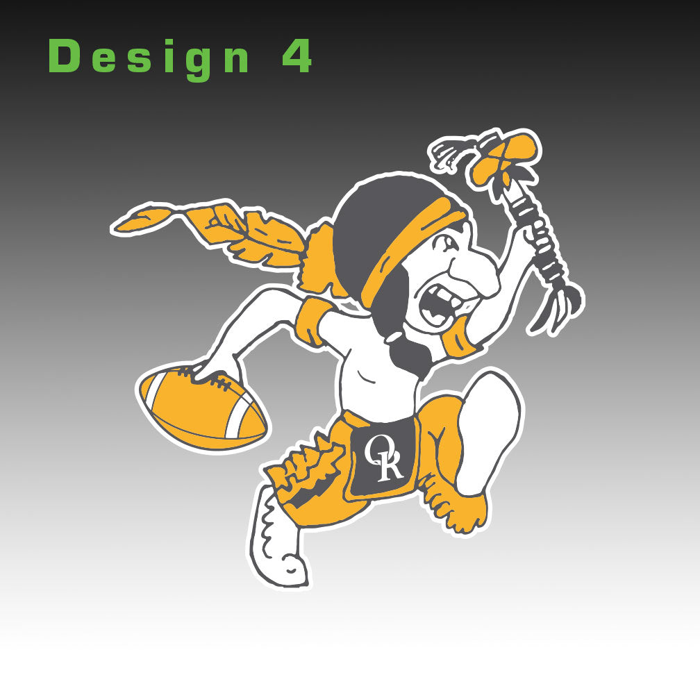 Raider Football Window Decal