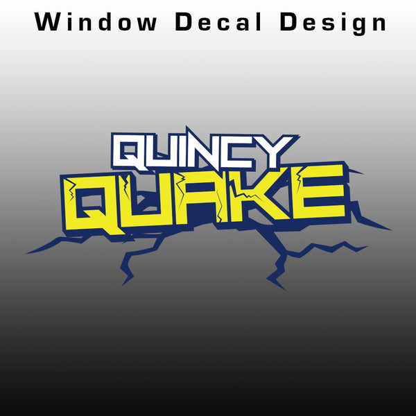 Quincy Quake Window Decal