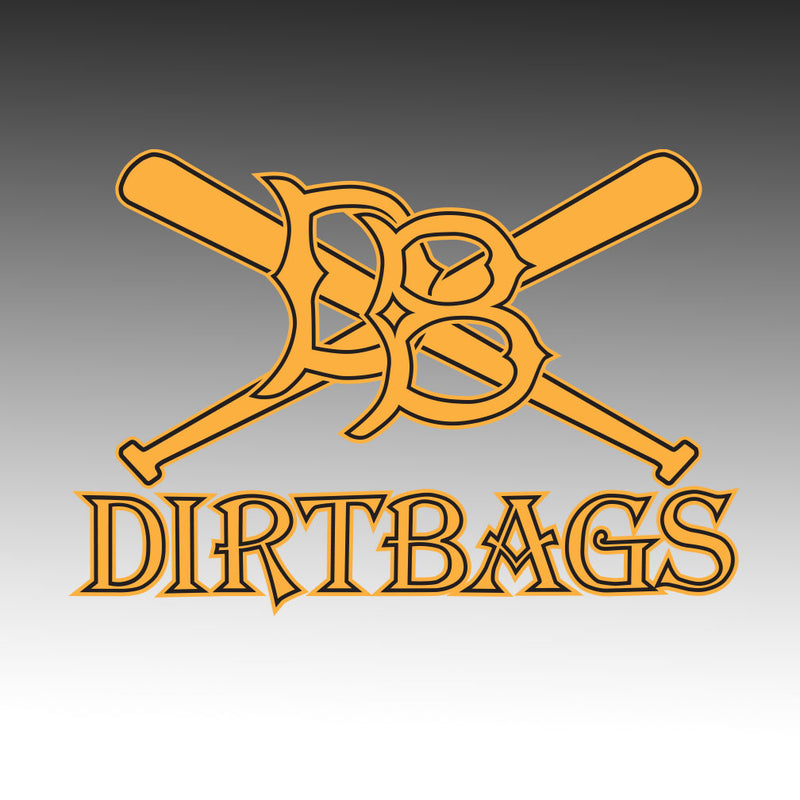 Dirtbag Baseball Window Decal