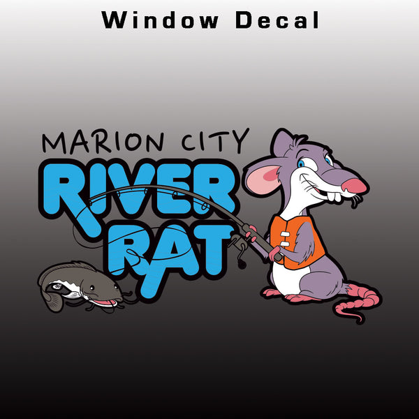 Marion City River Rat Window Decal