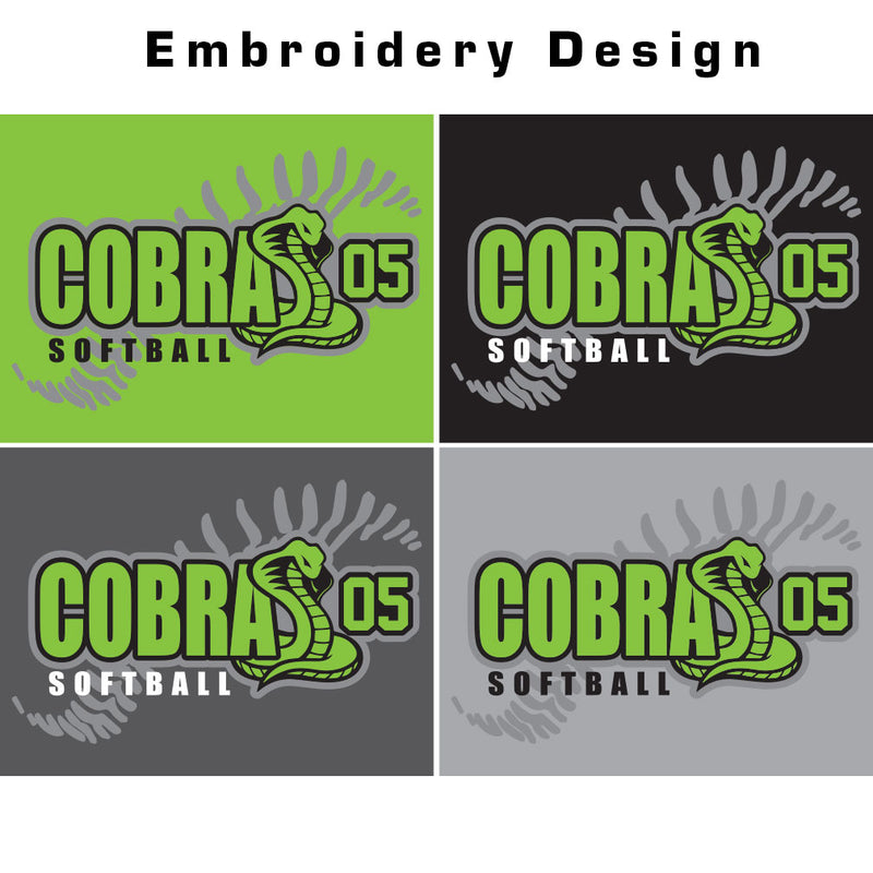 Cobras 05 Softball Waterproof Blanket