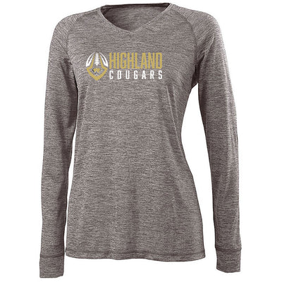 Highland Football Ladies Electrify V-Neck Long Sleeve