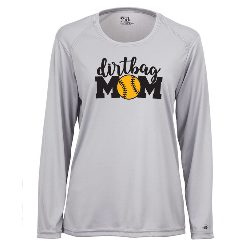 Dirtbag Baseball Ladies Drifit Long Sleeve