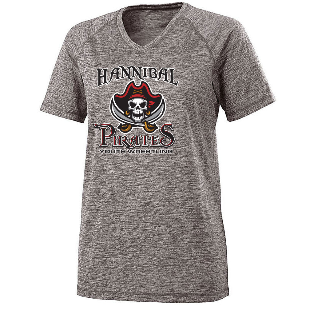 Hannibal Youth Wrestling Ladies Electrify V-Neck Tee