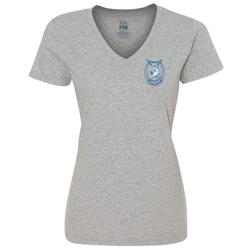 Dobson Mustangs 1999 Ladies V-Neck Tee