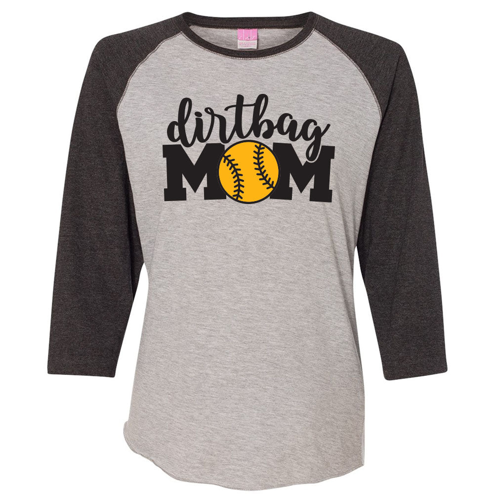 Dirtbag Baseball Ladies Baseball Tee