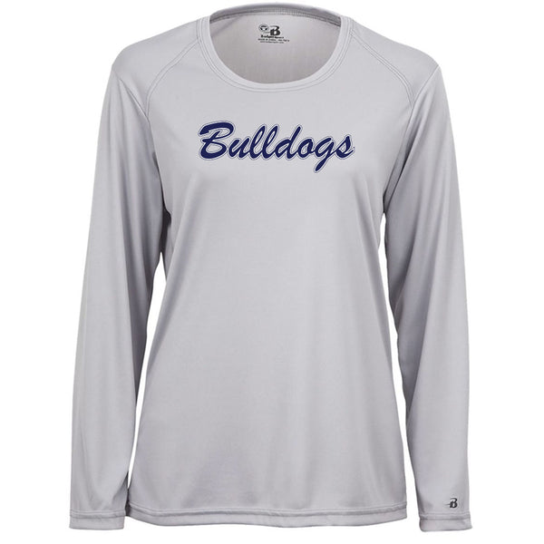 Bulldogs Ladies Drifit Long Sleeve Tee