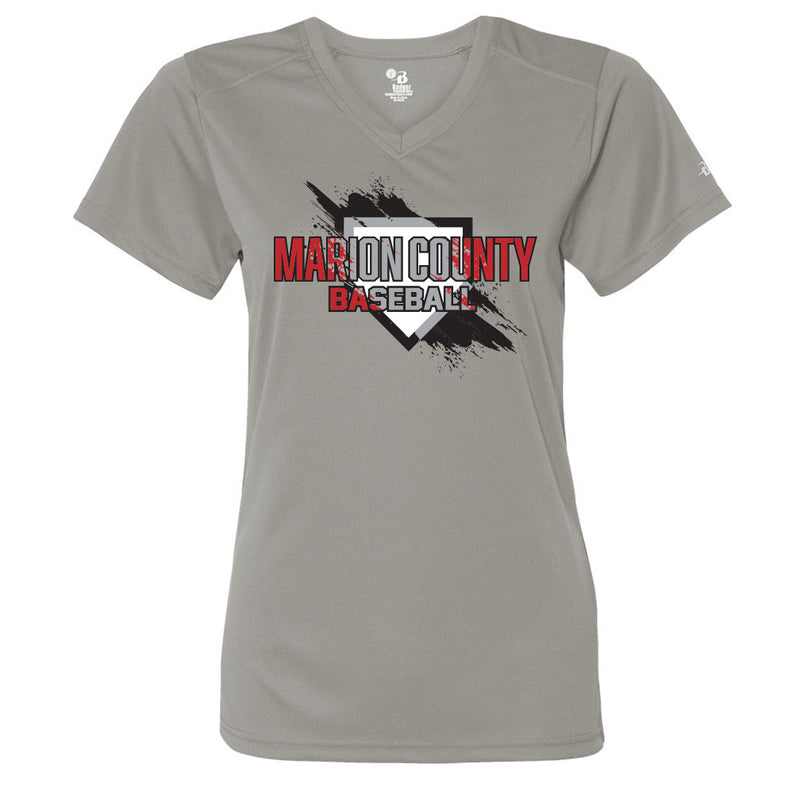 Marion County Spring 2019 Ladies Drifit V-Neck Tee