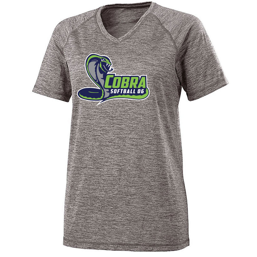 Cobra 06 Softball Ladies Electrify V-Neck Tee