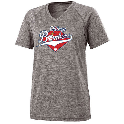 Quincy Bombers Ladies Electrify V-Neck