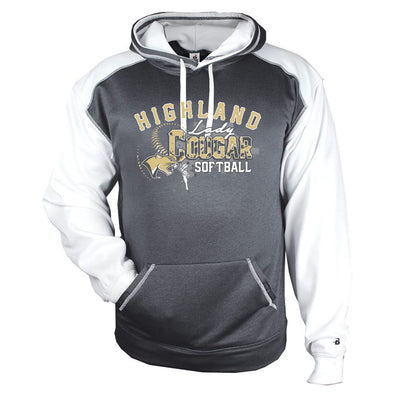 Highland Softball Colorblock Drifit Hoodie