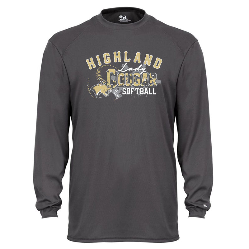 Highland Softball Youth Drifit Long Sleeve