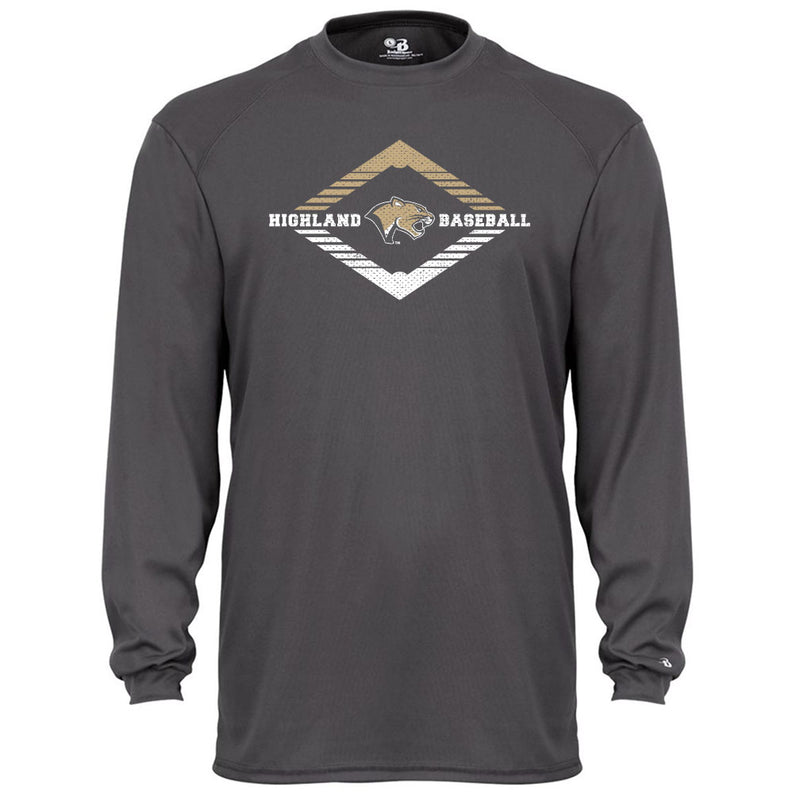 Highland Baseball Youth Drifit Long Sleeve