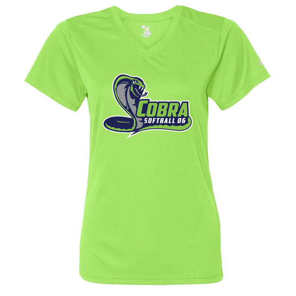 Cobra 06 Softball Ladies Drifit V-Neck