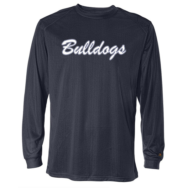Bulldogs Drifit Long Sleeve Tee