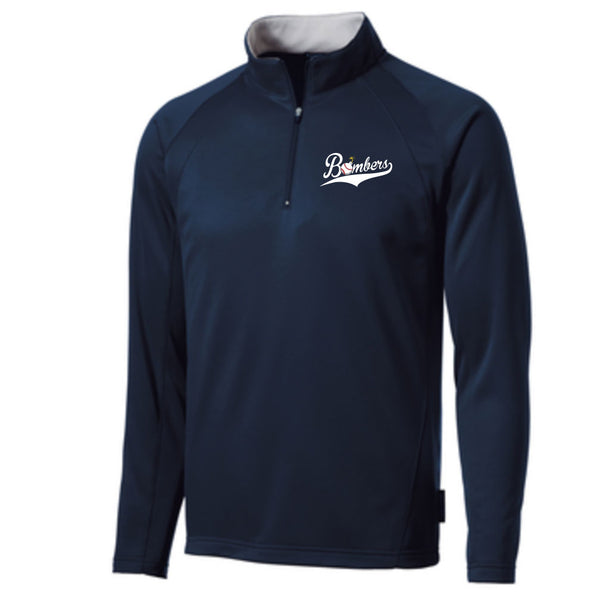 Quincy Bombers Fleece Lined 1/4 Zip