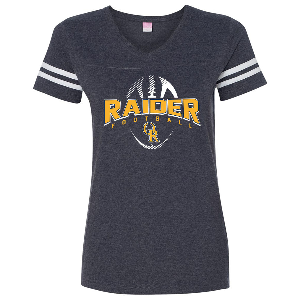 Raider Football Ladies Vintage V-Neck