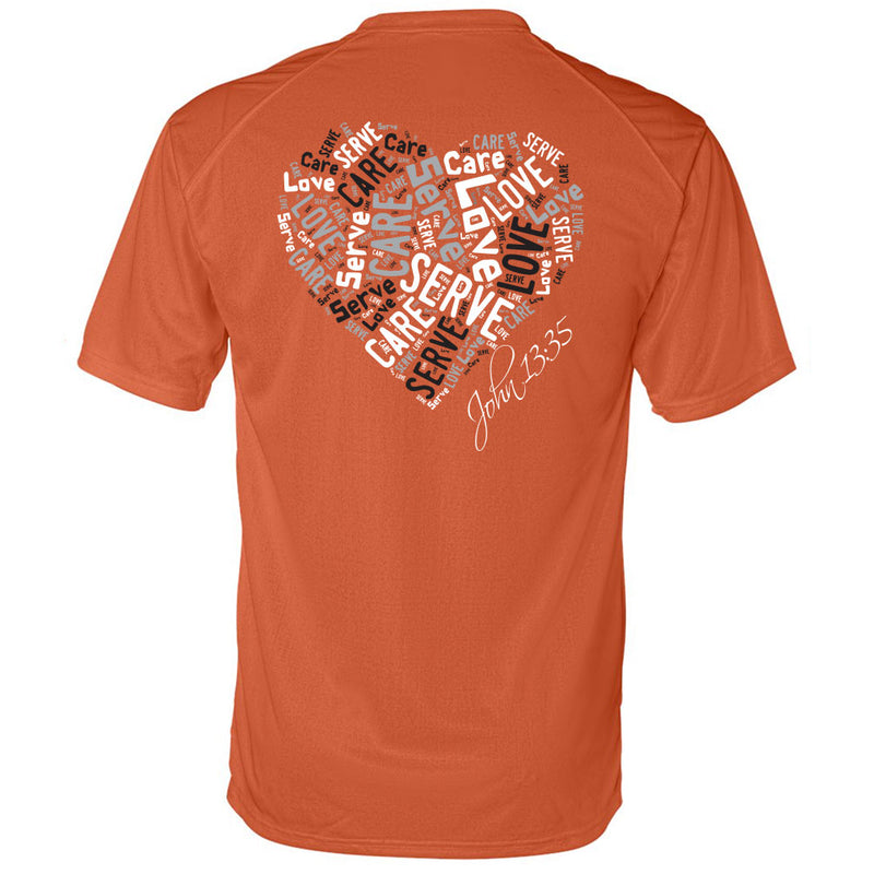 Cross Over Hoops Orange Drifit Tee