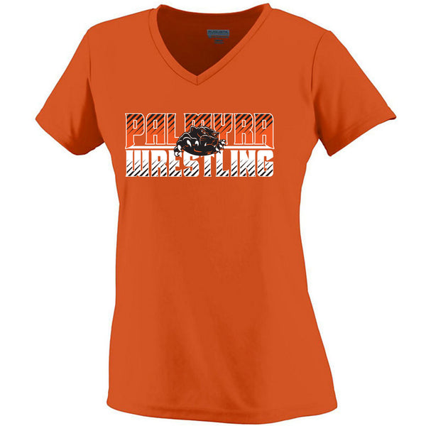 Palmyra Wrestling Ladies Drifit V-Neck Tee