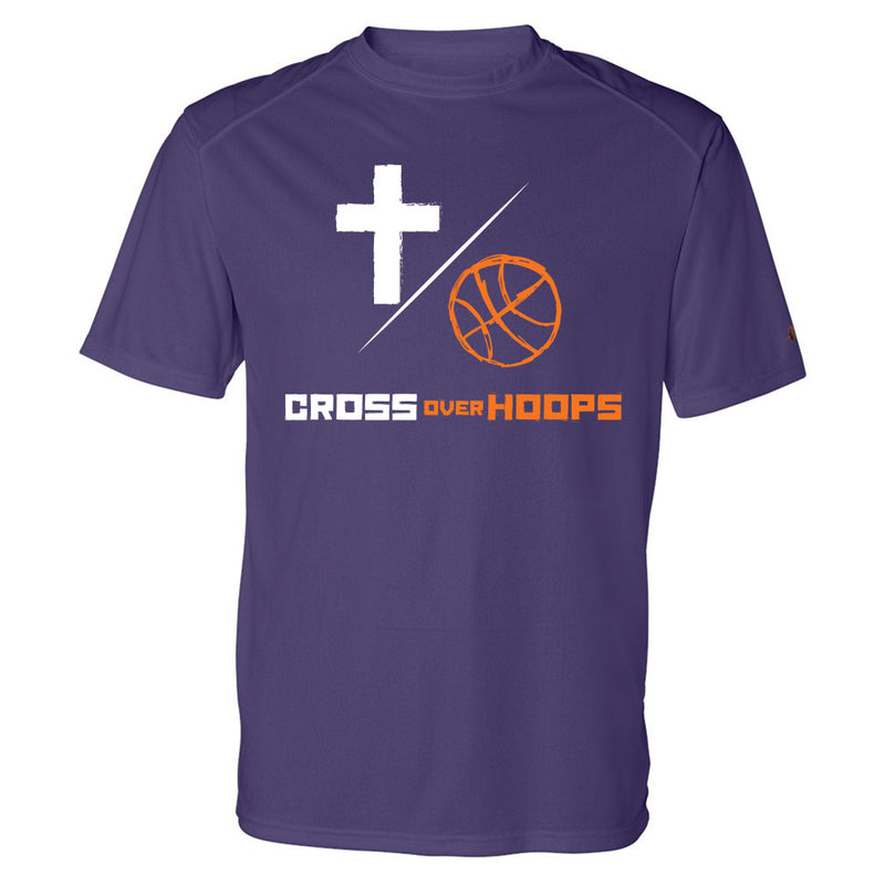 Cross Over Hoops Purple Drifit Tee