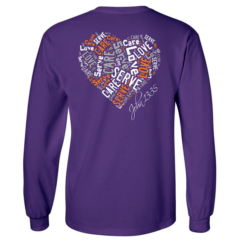 Cross Over Hoops Purple Long Sleeve