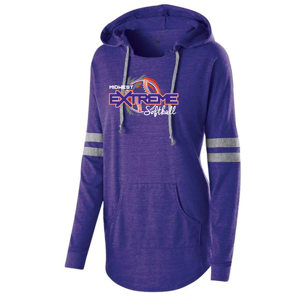 Extreme Softball Ladies Hooded Pullover