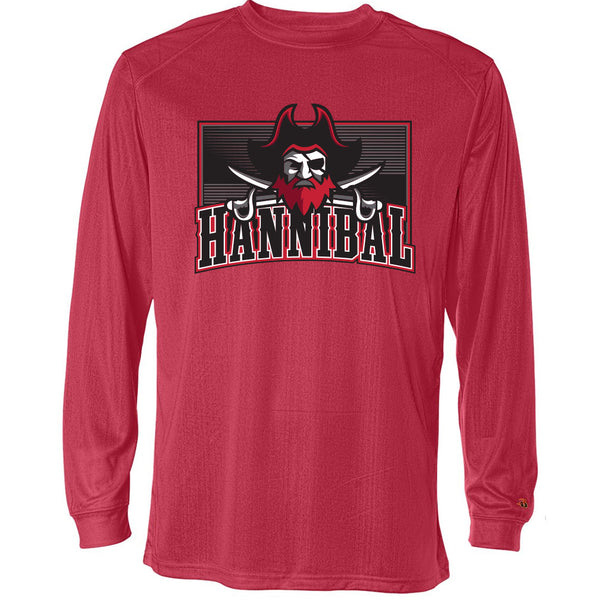 Hannibal Pirates Drifit Long Sleeve