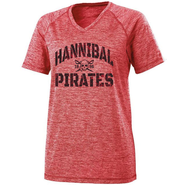 Hannibal Pirates Ladies Electrify V-Neck Tee