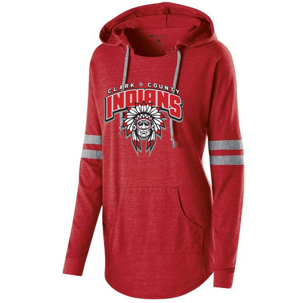 Clark County Indians Ladies Hooded Pullover