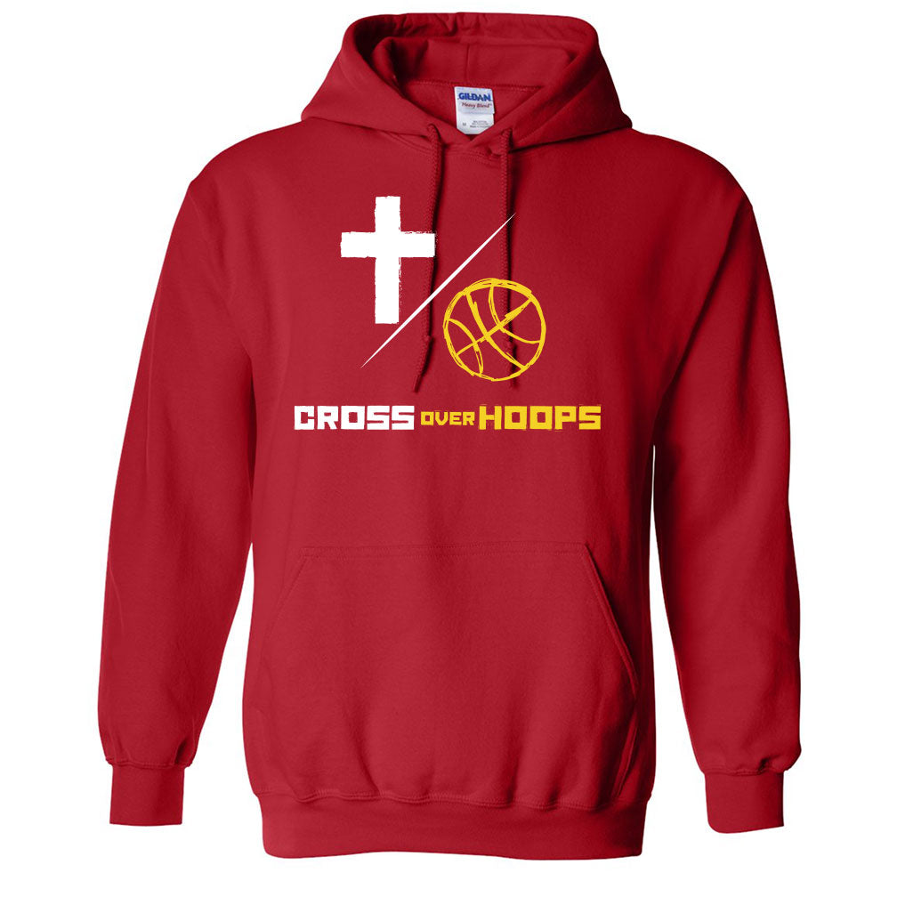 Cross Over Hoops Red Hoodie