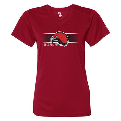QCCS Eagles Ladies Drifit V-Neck Tee