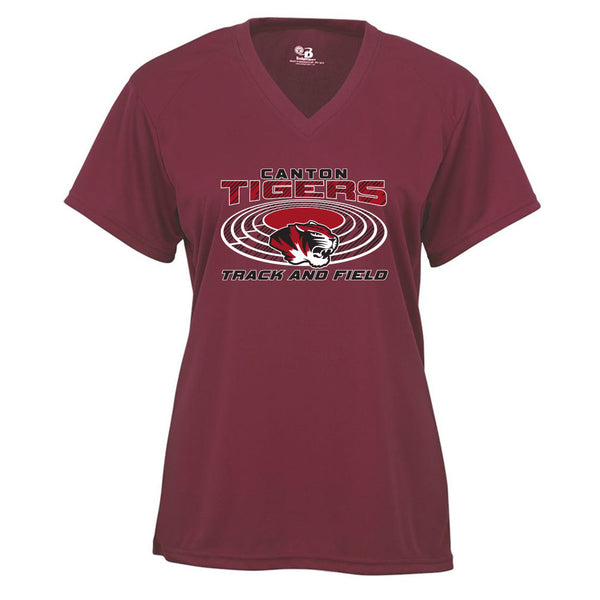 Canton Track & Field Ladies Drifit V-Neck