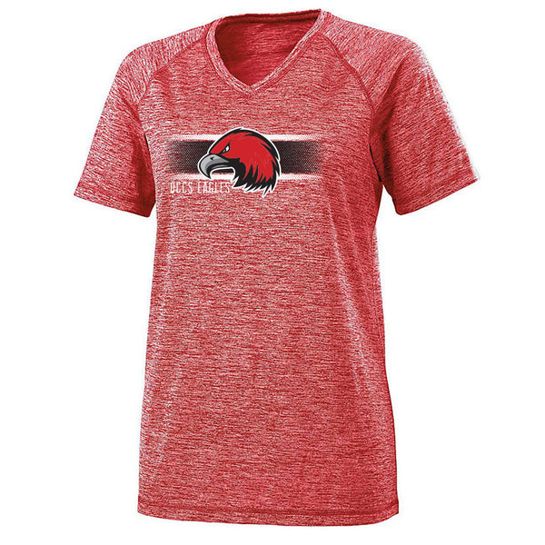 QCCS Eagles Ladies Electrify V-Neck Tee