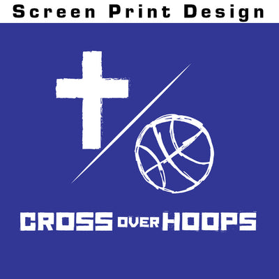 Cross Over Hoops Royal Long Sleeve A