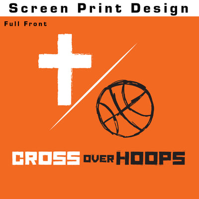 Cross Over Hoops Orange Tee