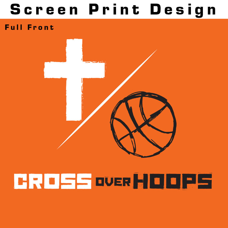 Cross Over Hoops Orange Long Sleeve