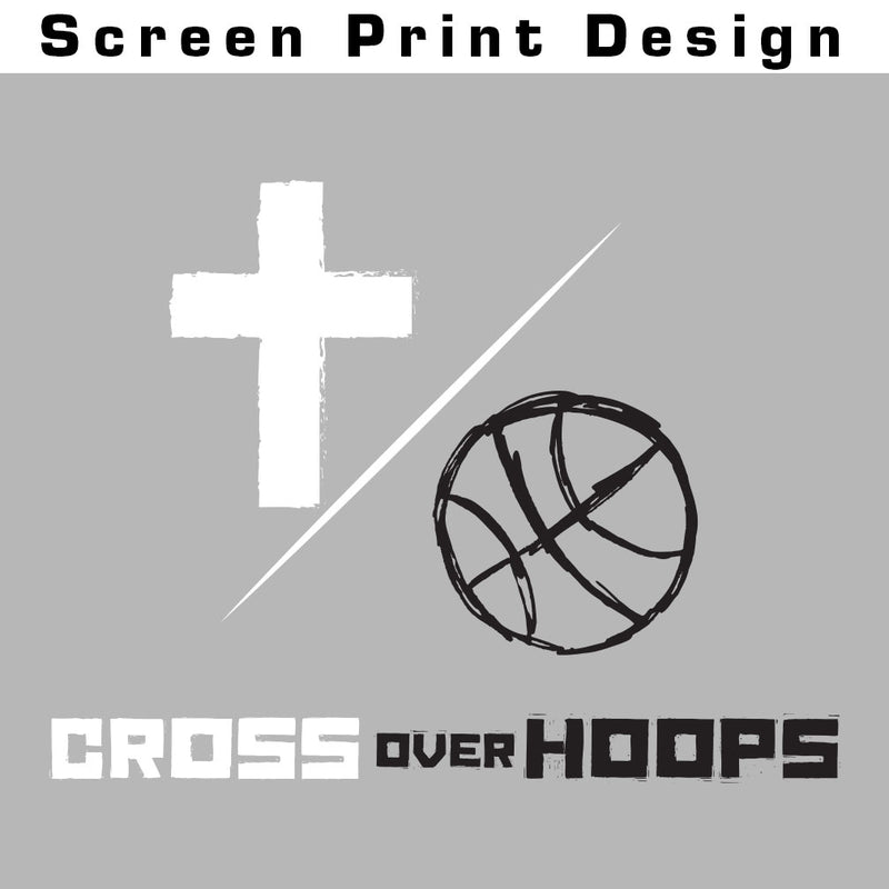 Cross Over Hoops Sport Grey Tee