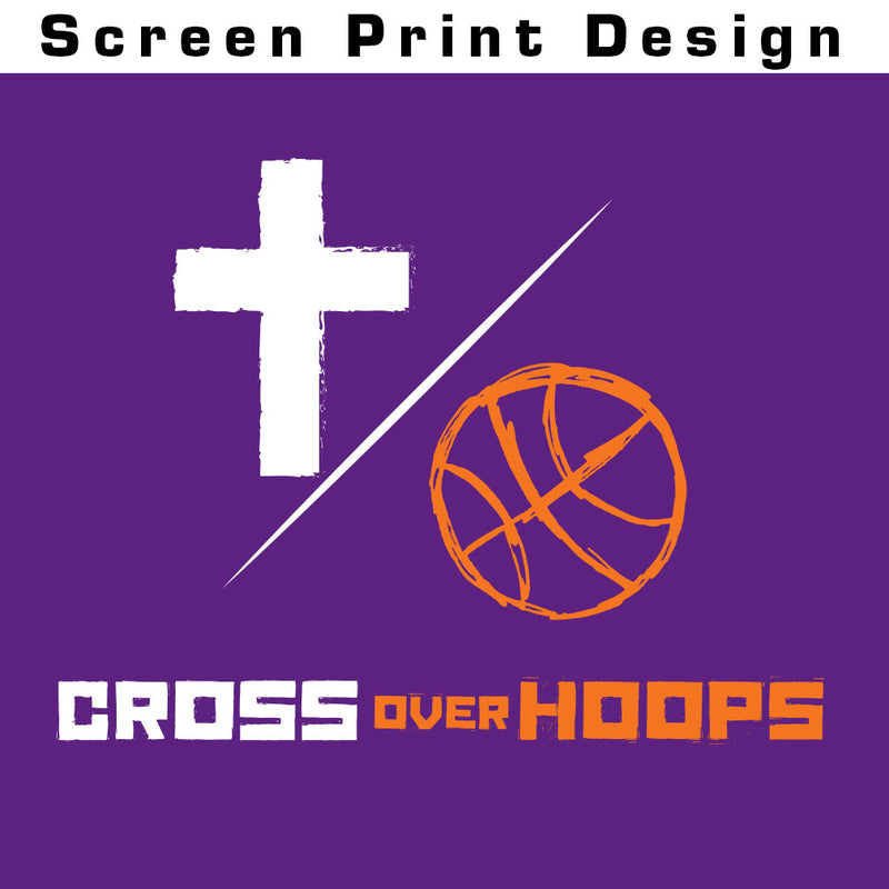 Cross Over Hoops Purple Tee