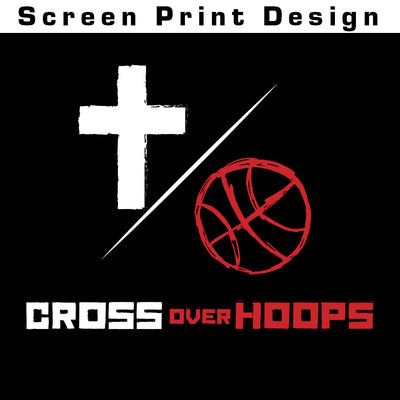 Cross Over Hoops Black Tee