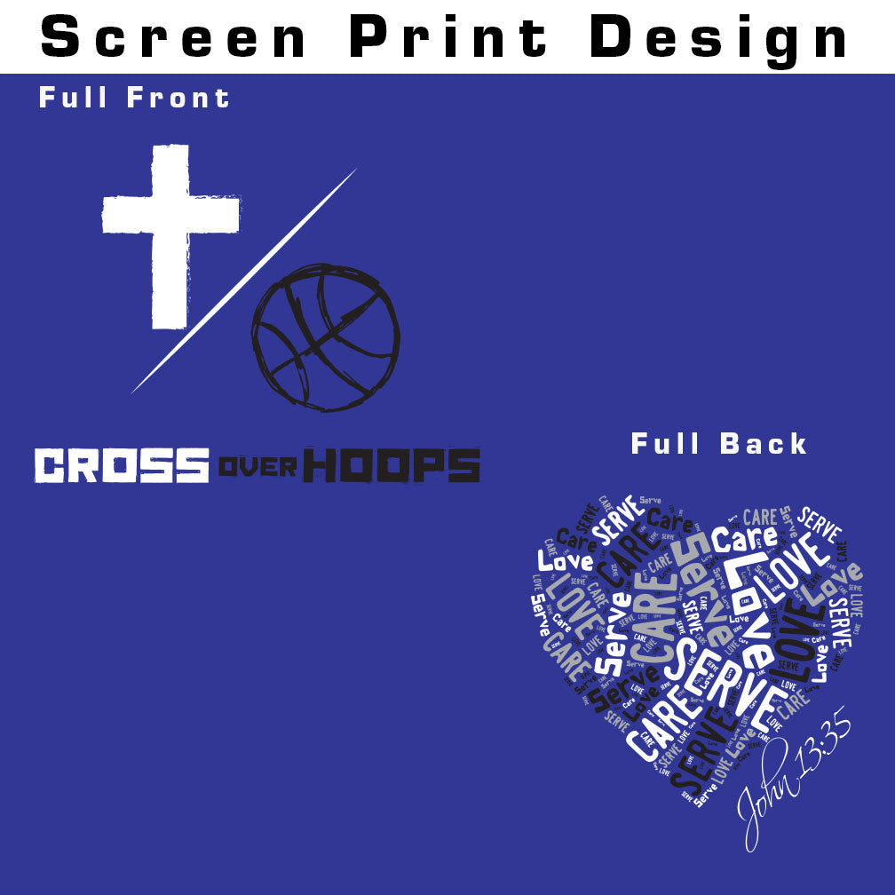 Cross Over Hoops Royal Blue Long Sleeve B