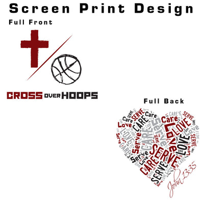 Cross Over Hoops White T-Shirt C