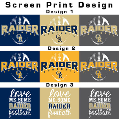 Raider Football Colorblock Hoodie
