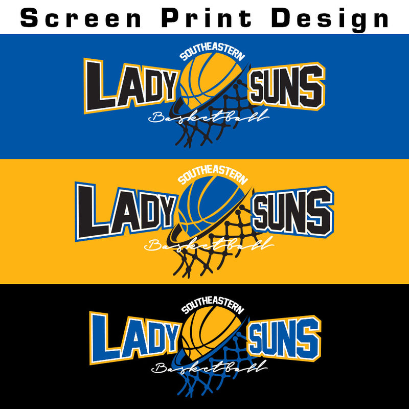 Lady Suns Basketball Ladies Baseball Tee